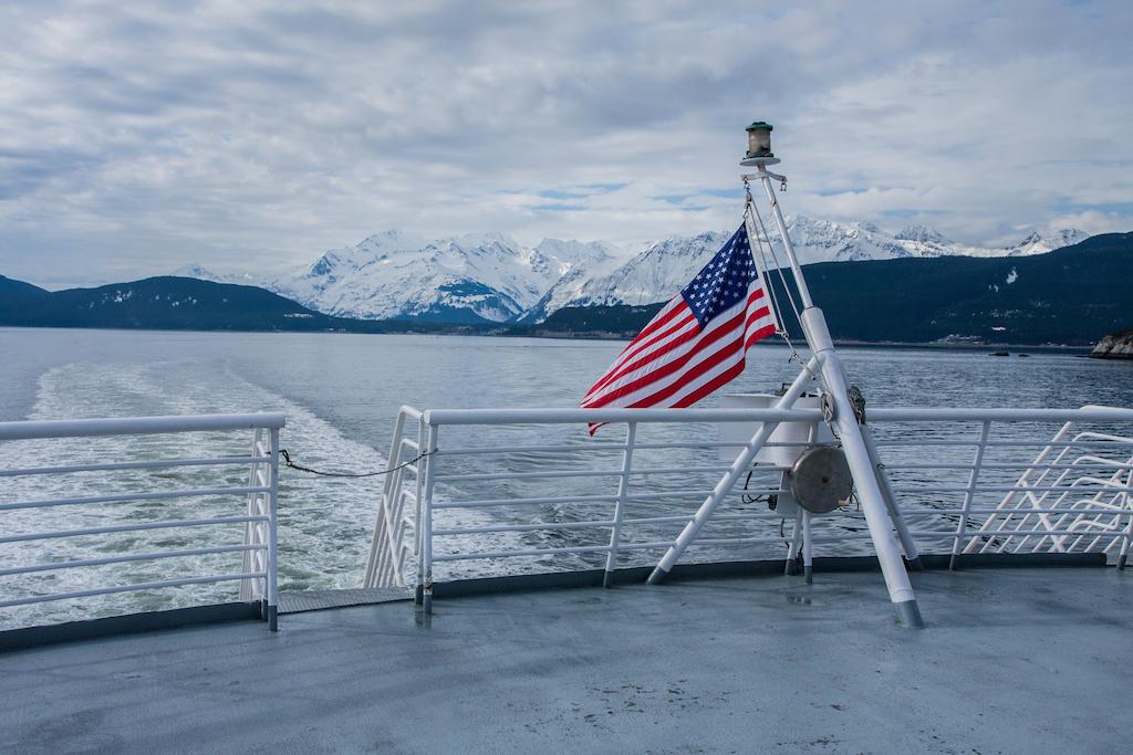 Ferry de Haines à Skagway.. T'es au US et on te le rappelle !