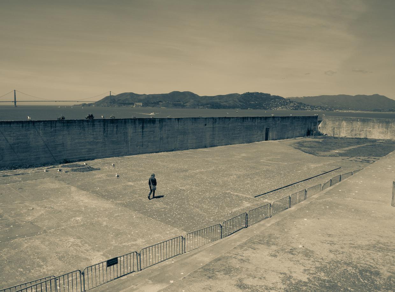 Cour des prisonniers - Alcatraz