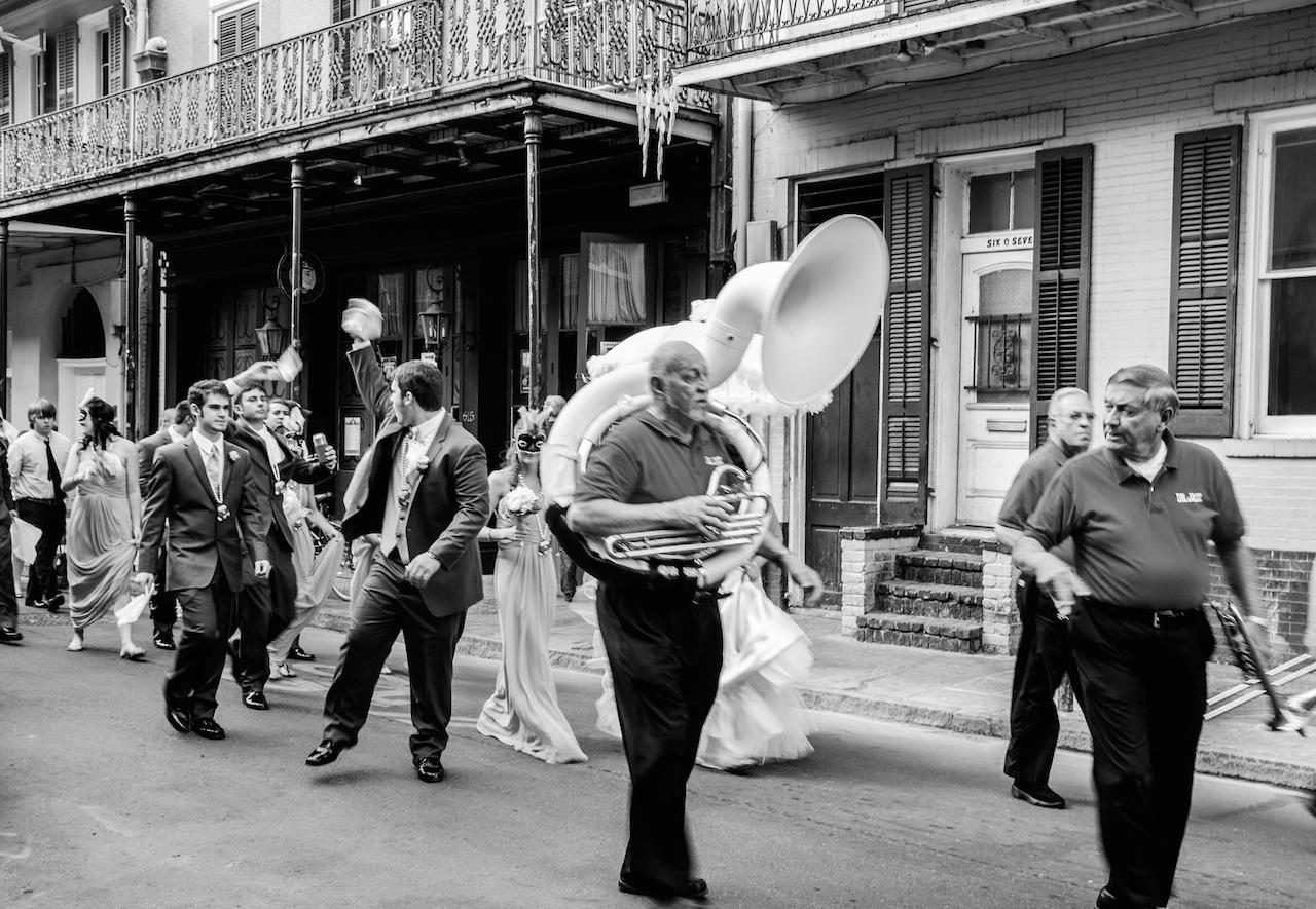 Mariage en musique en plein coeur de la ville !