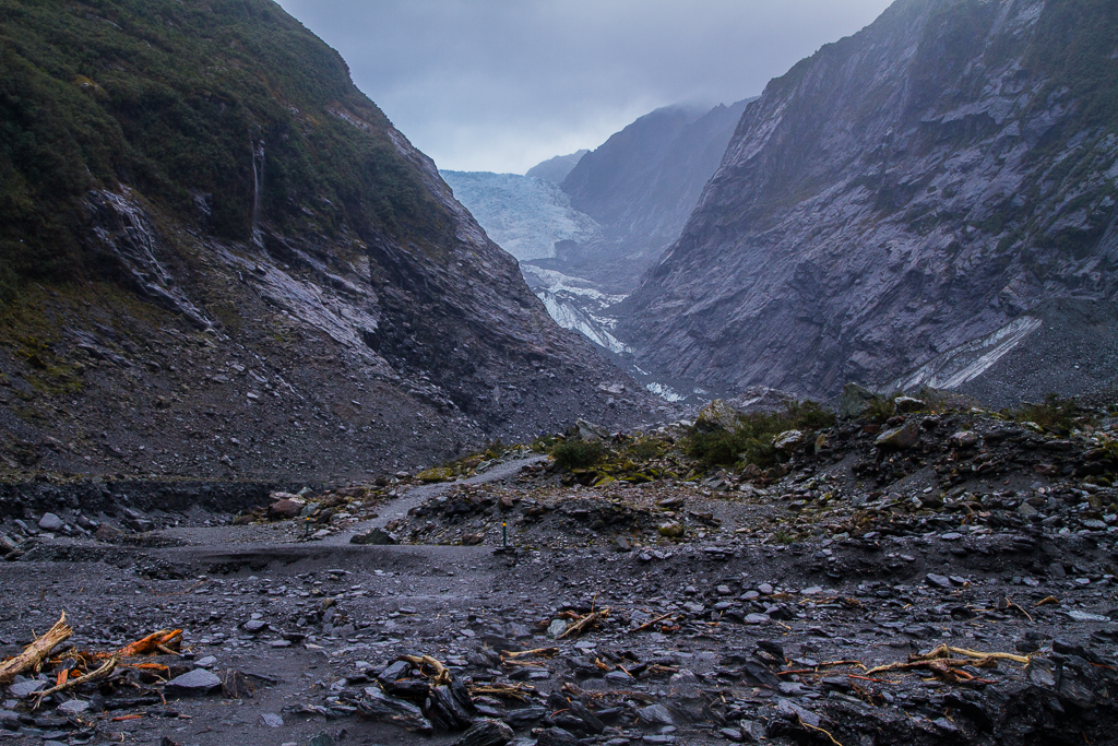 Franz Josef glacier (oui oui, on se croirait au Mordor...)