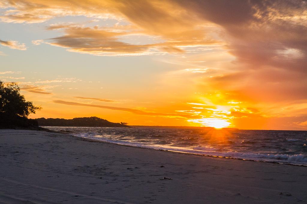 Coucher de soleil sur North Stradbroke island