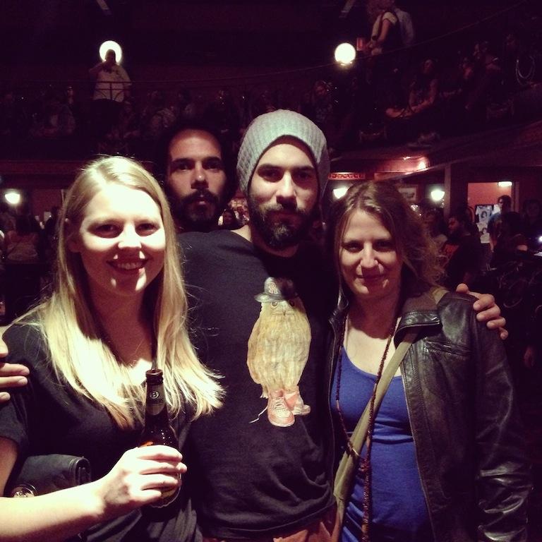 Avec Rachel et Nico au concert de Chet Faker