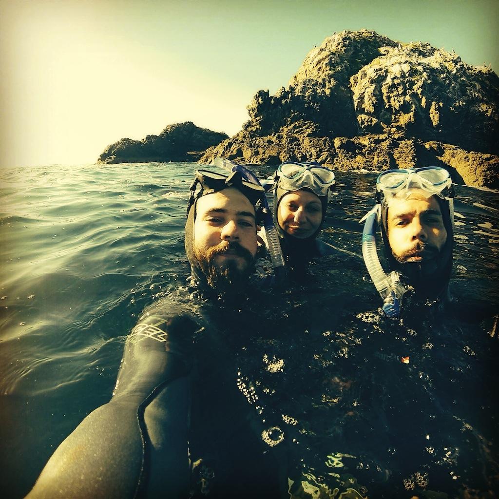 La team en snorkeling