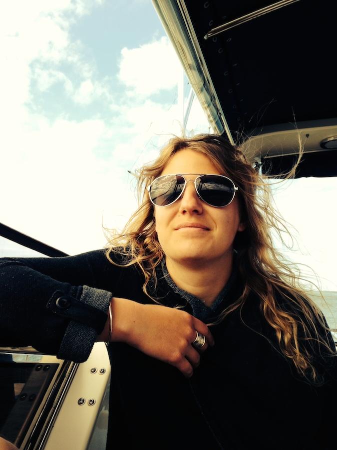 Sur le bateau des parents de Rachel