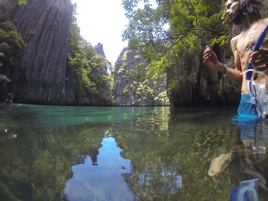 Big lagoon dans l'archipel des Bacuit